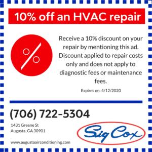 10% Savings off HVAC Repair with Sig Cox