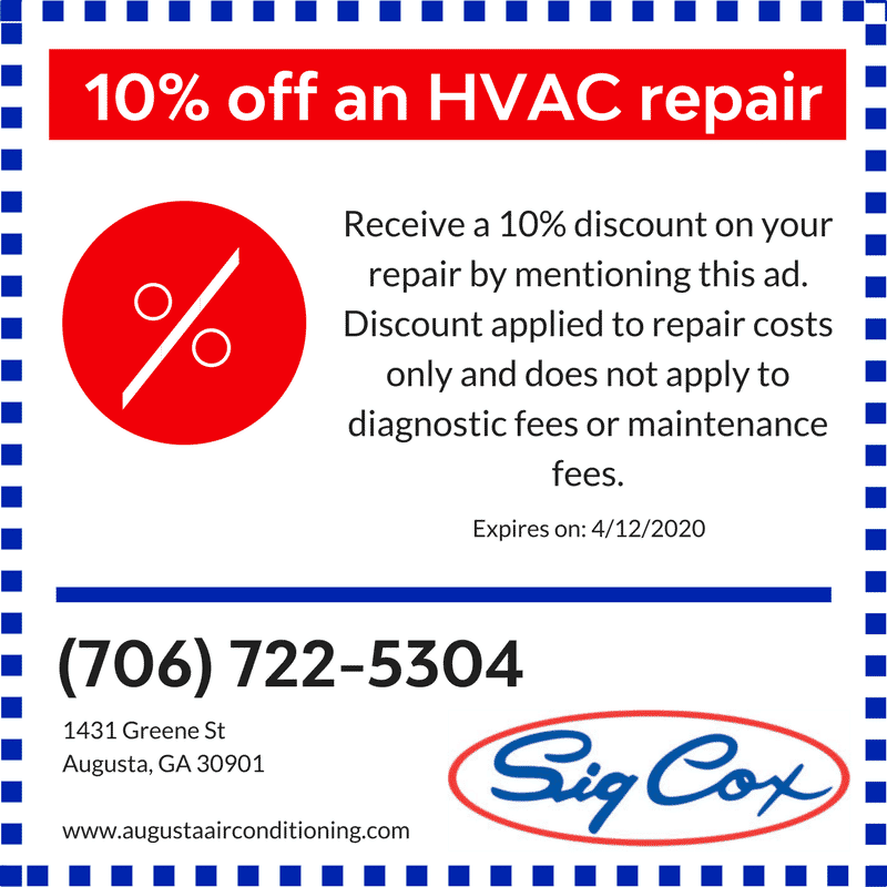 10% Savings off HVAC Repair with Sig Cox