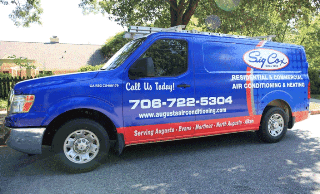 Sig Cox Residential & Commercial Service Van
