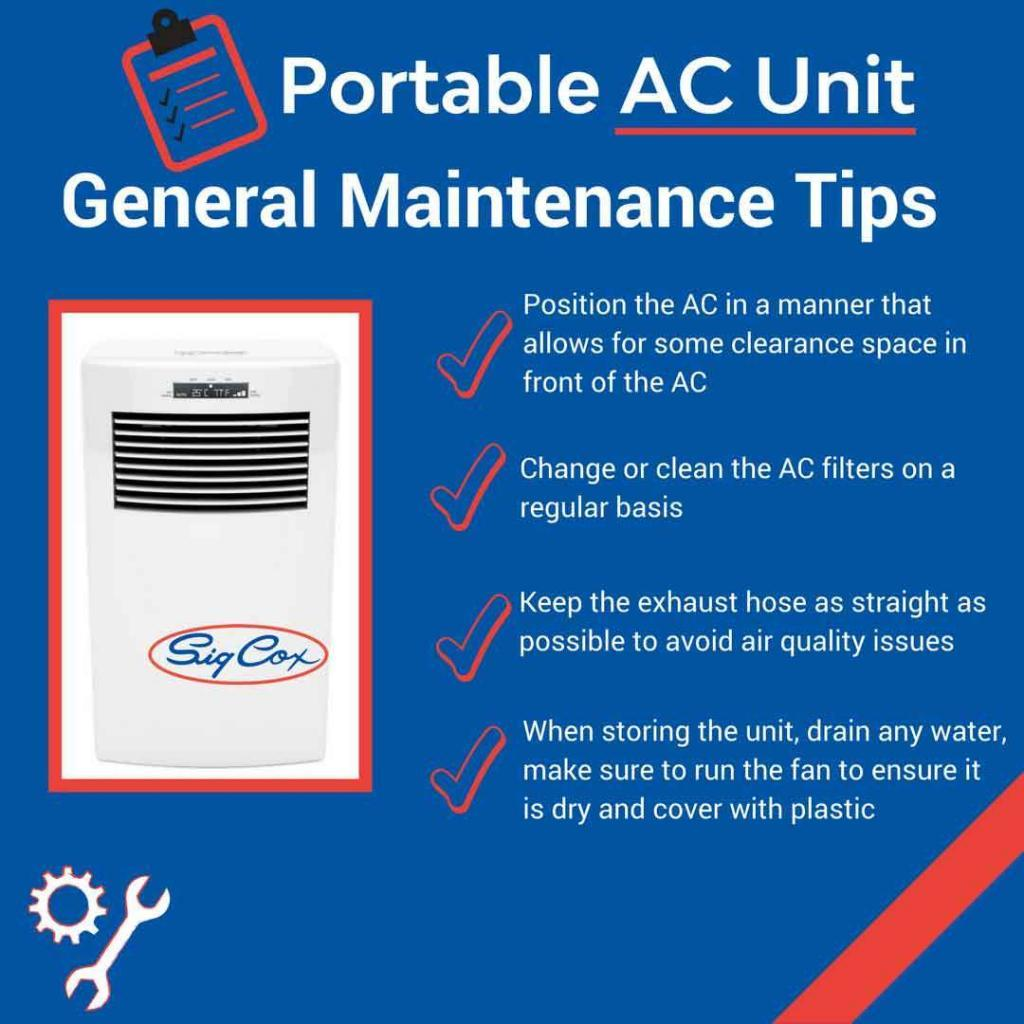 Portable AC Unit General Maintenance Tips