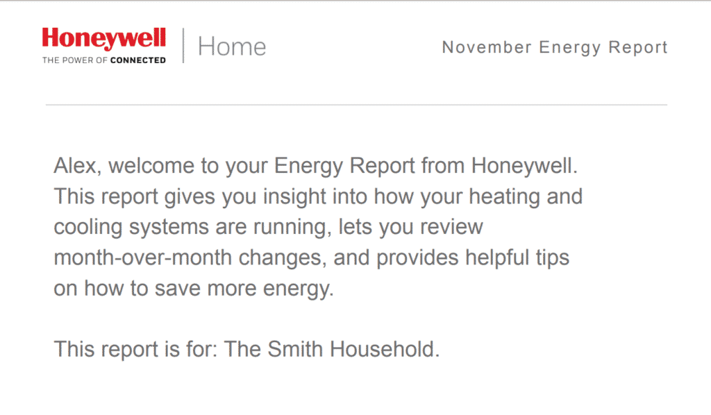 Energy and Money Saving Feature on Honeywell Wireless Thermostat