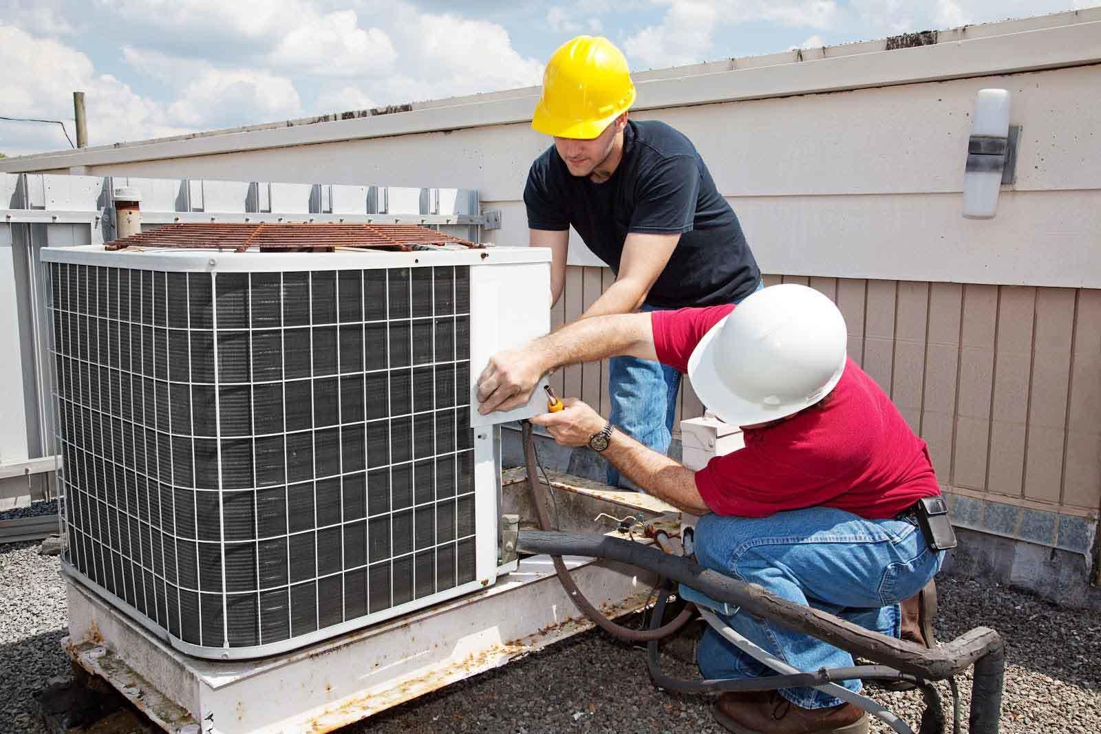 Sig Cox HVAC Repair services on a Commercial HVAC rooftop unit in Lexington, SC