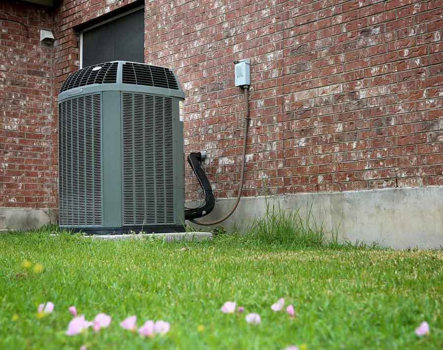 Residential HVAC Unit in backyard