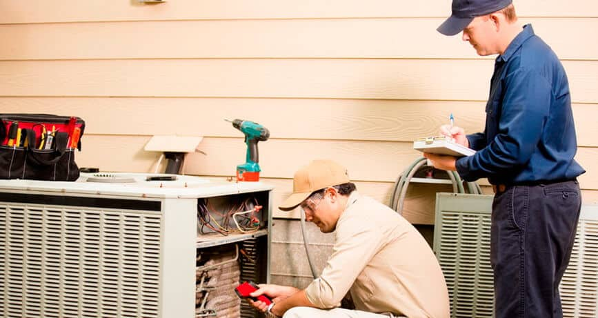 Augusta Air HVAC Contractors performing AC maintenance