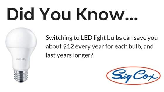 Saving money with LED lightbulbs