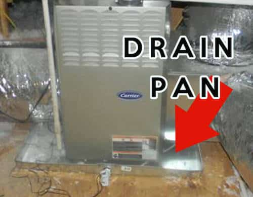 drain pan is to collect and drain water