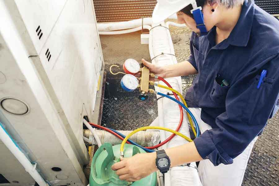 Columbia, SC HVAC inspection for a commercial HVAC unit