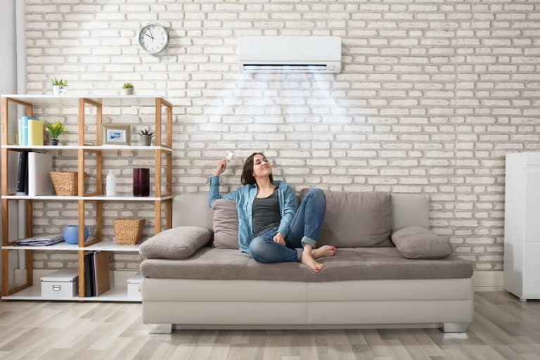 ductless zoned hvac unit in room